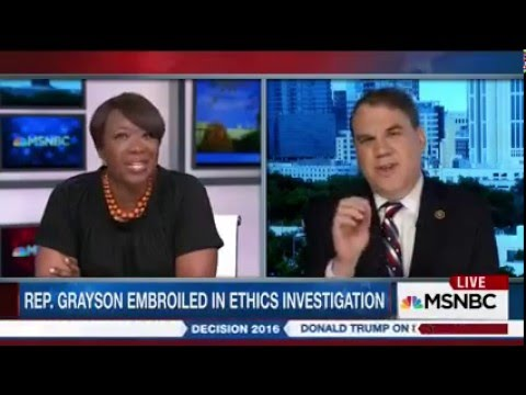 MSNBC: Alan Grayson Blows Up Over Questions About His Offshore Hedge Fund