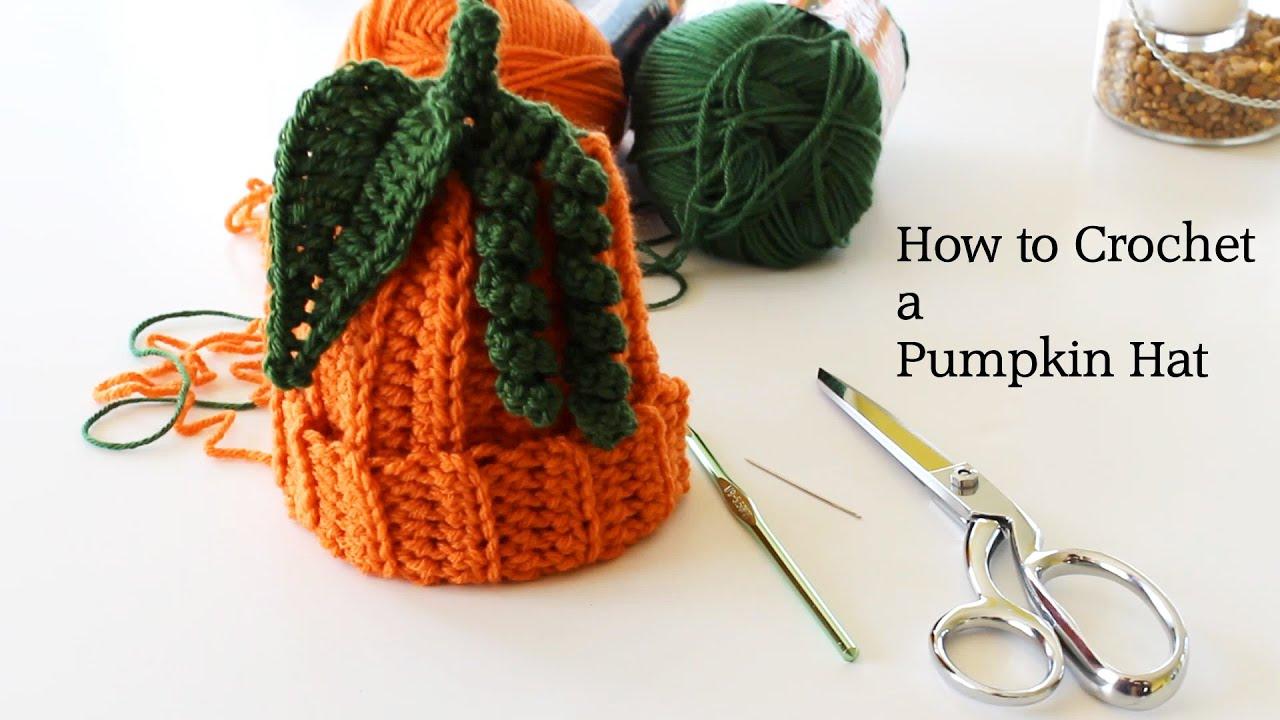 How To Crochet A Pumpkin Hat Youtube
