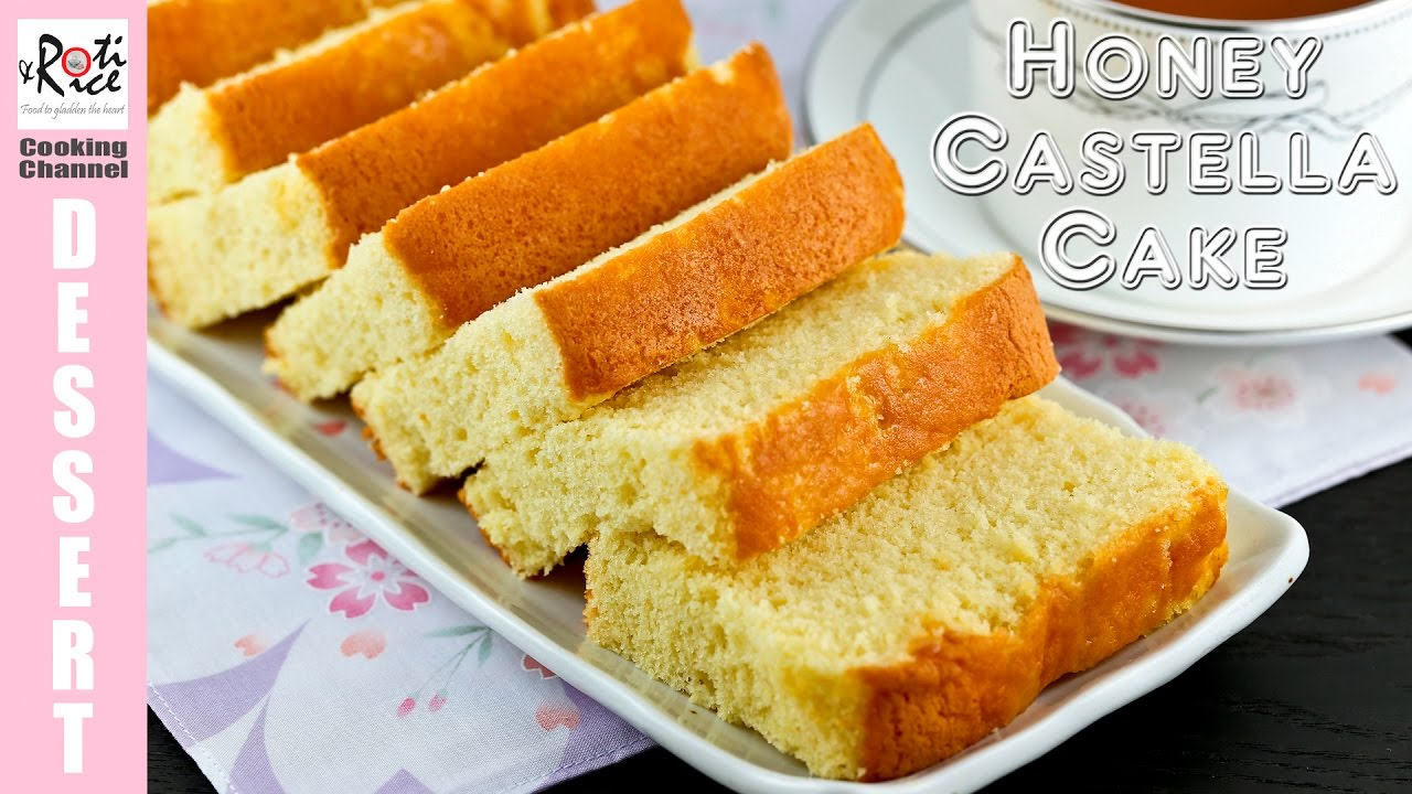 Japanese Sponge Cake Recipe Youtube: How To Make Honey Castella Cake