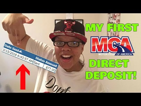 Income Proof of My First Motor Club of America MCA Direct Deposit| MCA Direct Deposit Income Proof