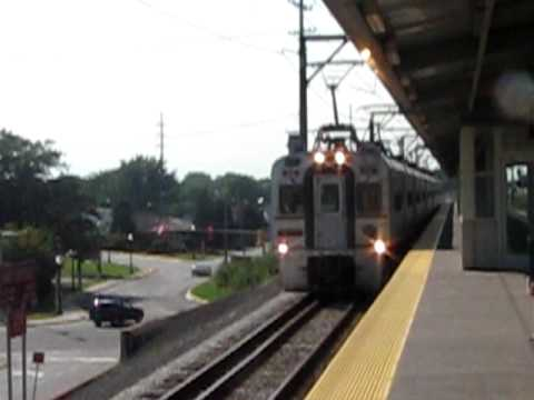 South Shore Line Train #11- Express on Gauntlet Tracks at East Chicago, IN