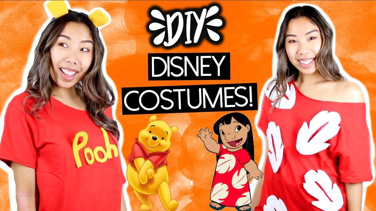 LAST MINUTE DIY DISNEY HALLOWEEN COSTUMES UNDER $5! (Pooh ...