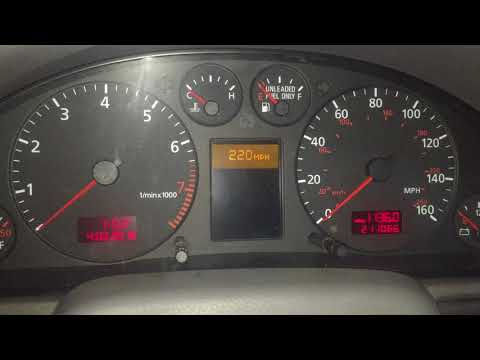 Adjust Second Speed Warning Audi A4 S4 RS4 B5