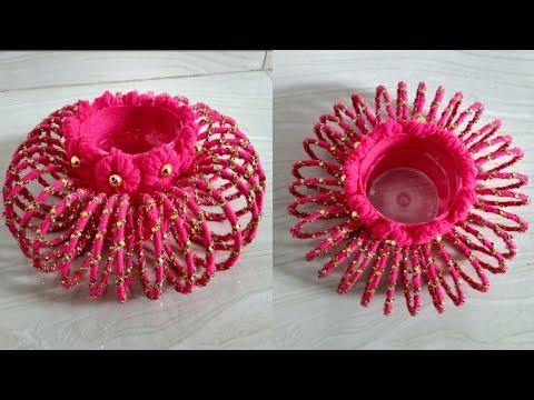 Waste bangles craft idea | Beautiful flower vase | 190