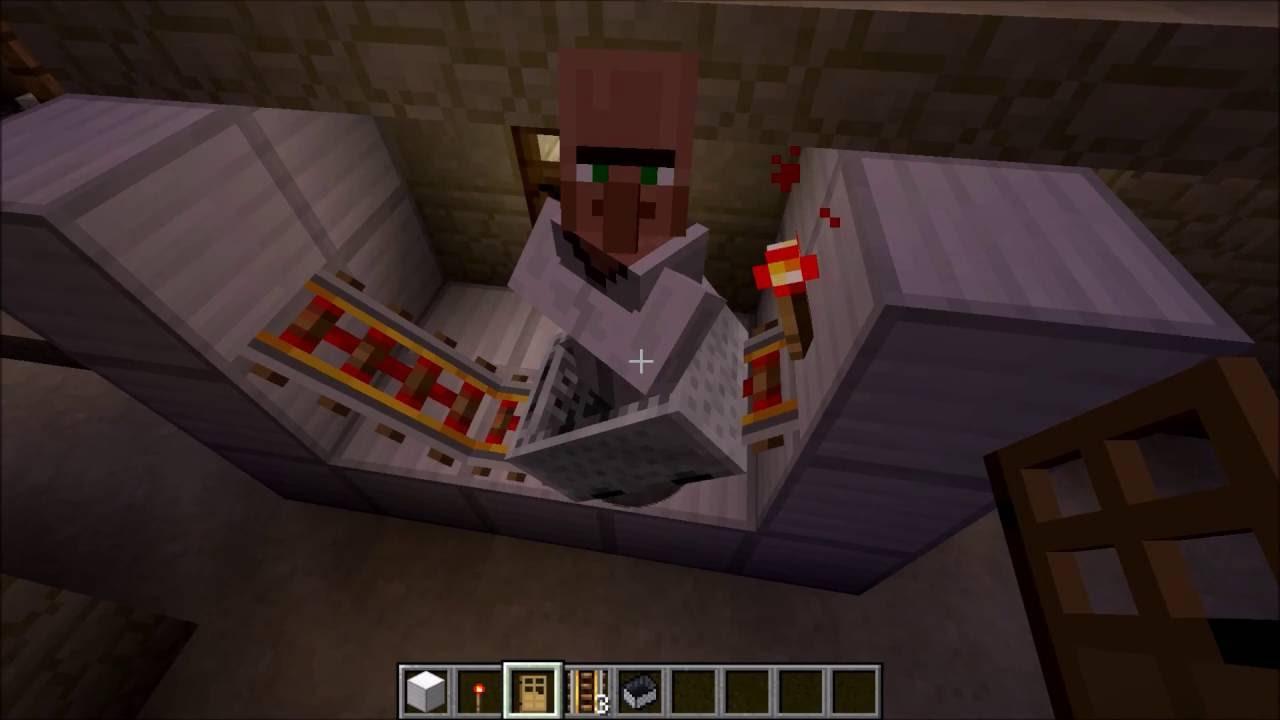 Villager In Minecart SIMPLE HOW TO VILLAGER Into A - Minecraft dorfbewohner bauen hauser mod