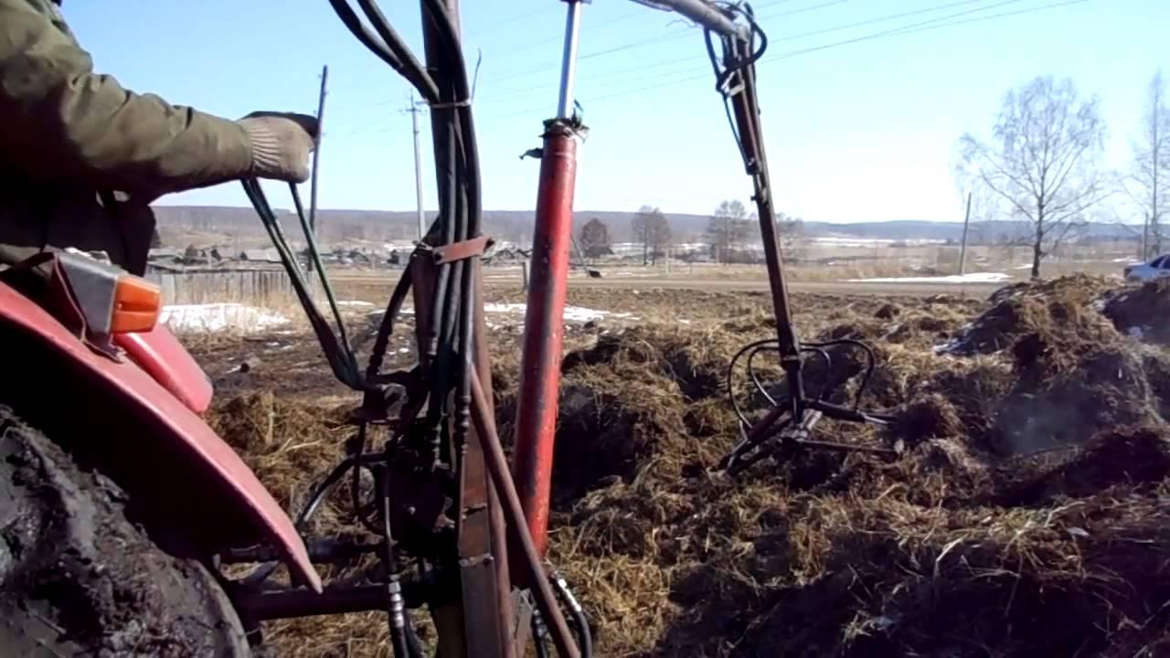 Фронтальный погрузчик на трактор мтз.