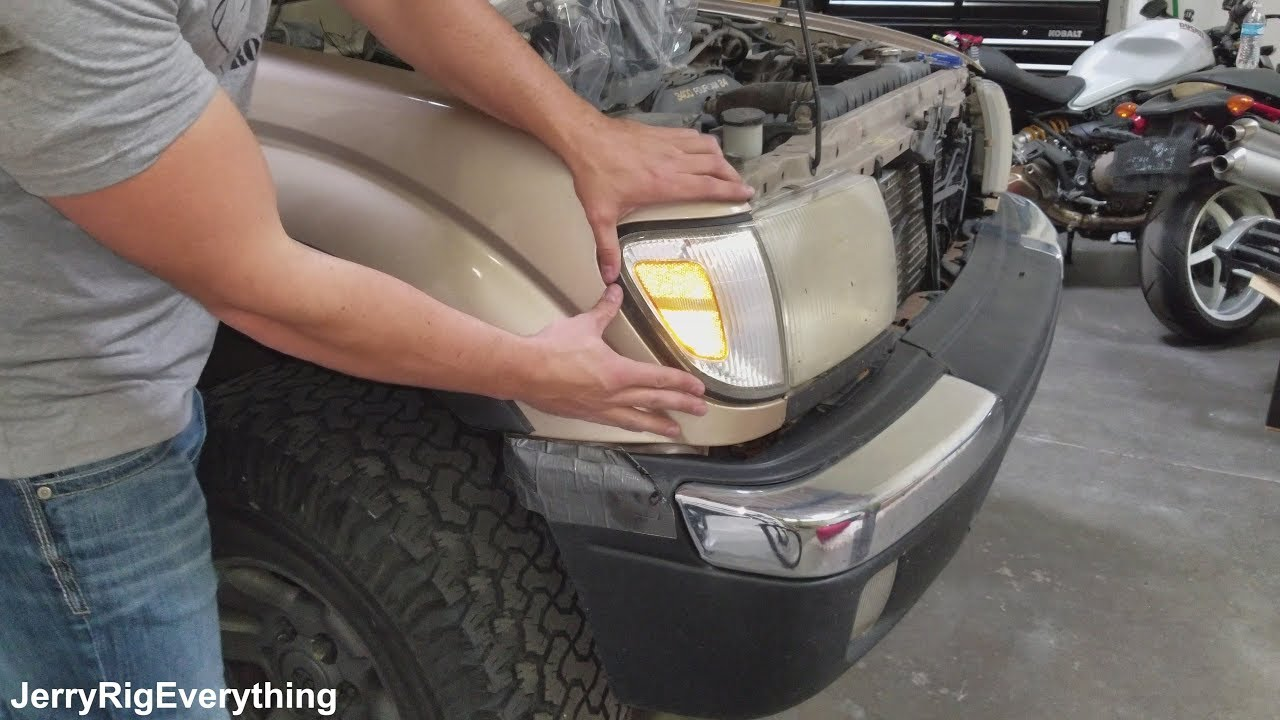 Toyota Tacoma Headlight Lens And Parking Marker Replacement 1997 2000