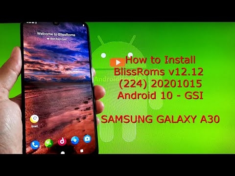 BlissRoms v12.12 (224) 20201015 for Samsung Galaxy A30 Android 10 Q