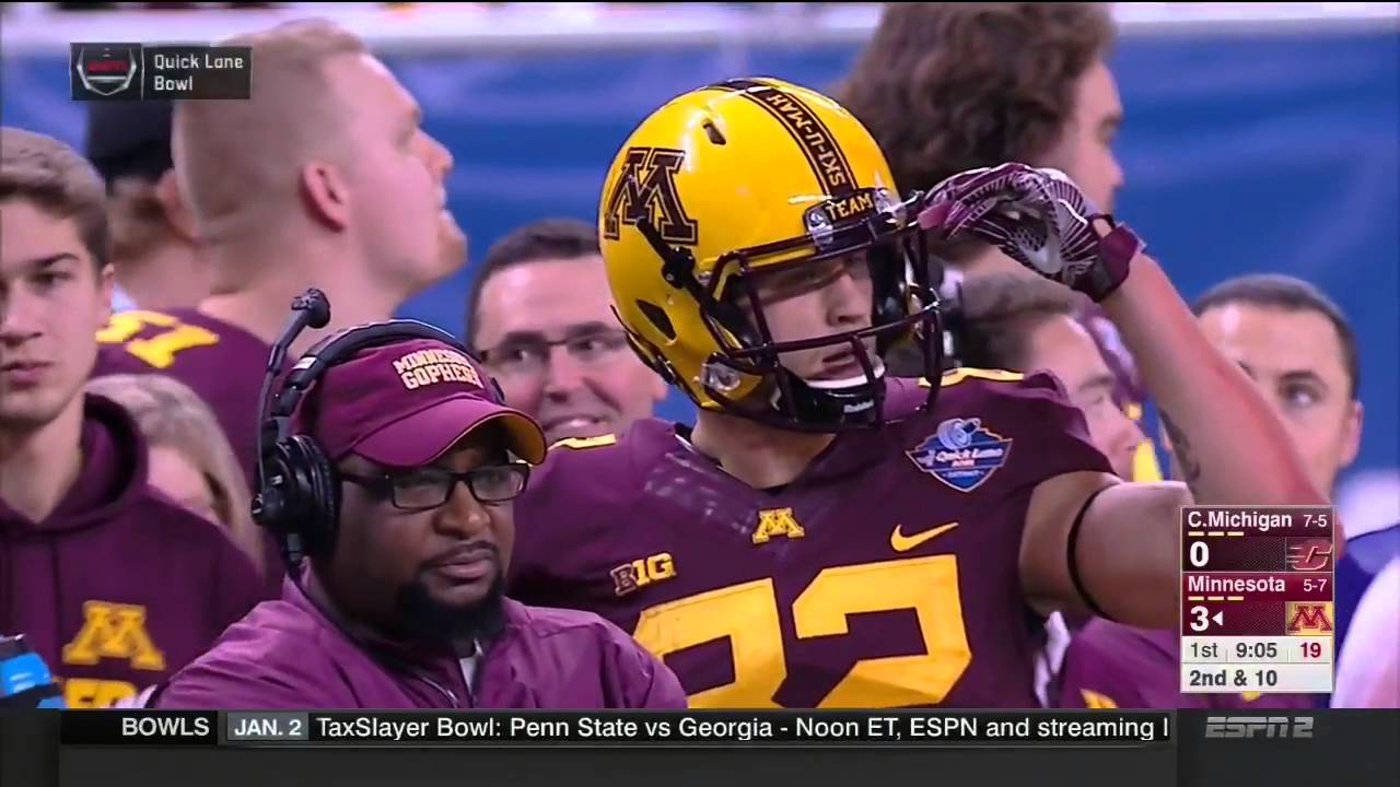 QUICK LANE BOWL. Central Michigan Chippewas vs Minnesota Golden Gophers 28.12.15