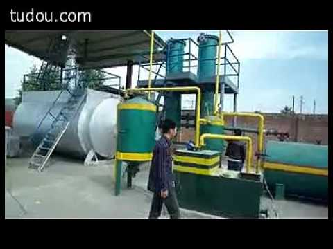 Turn black oil waste motor oil waste shipping oil for Waste motor oil to diesel