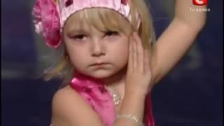 Ангелина Галушкина 5 лет проникновенный танец на шоу Украина мае талант 4