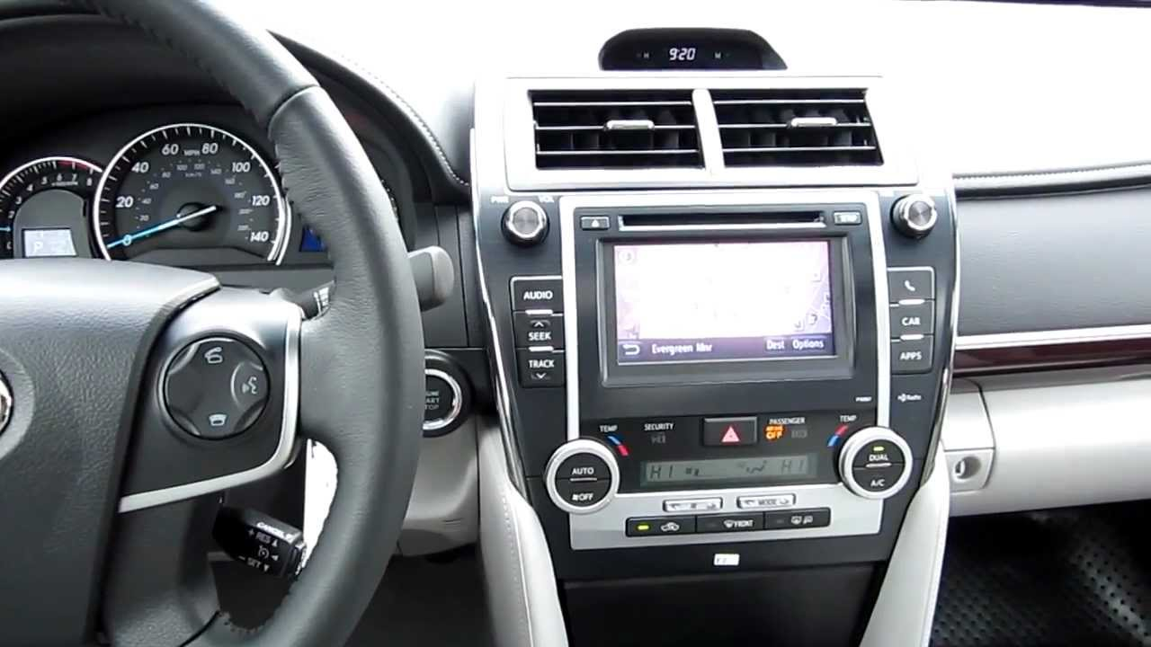 Toyota Camry Vs Honda Accord >> 2013 Toyota Camry XLE, Magnetic Gray Metallic - Stock# 33166 - Interior - YouTube