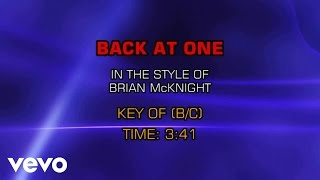 Video Brian McKnight - Back At One (Karaoke) download MP3, 3GP, MP4, WEBM, AVI, FLV April 2018