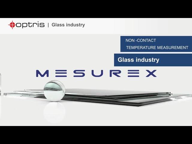 Monitorización de temperatura durante la producción de vidrio