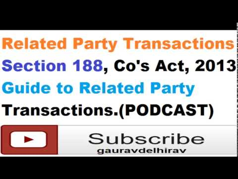 Audio book Related Party Transactions guide section 188 latest