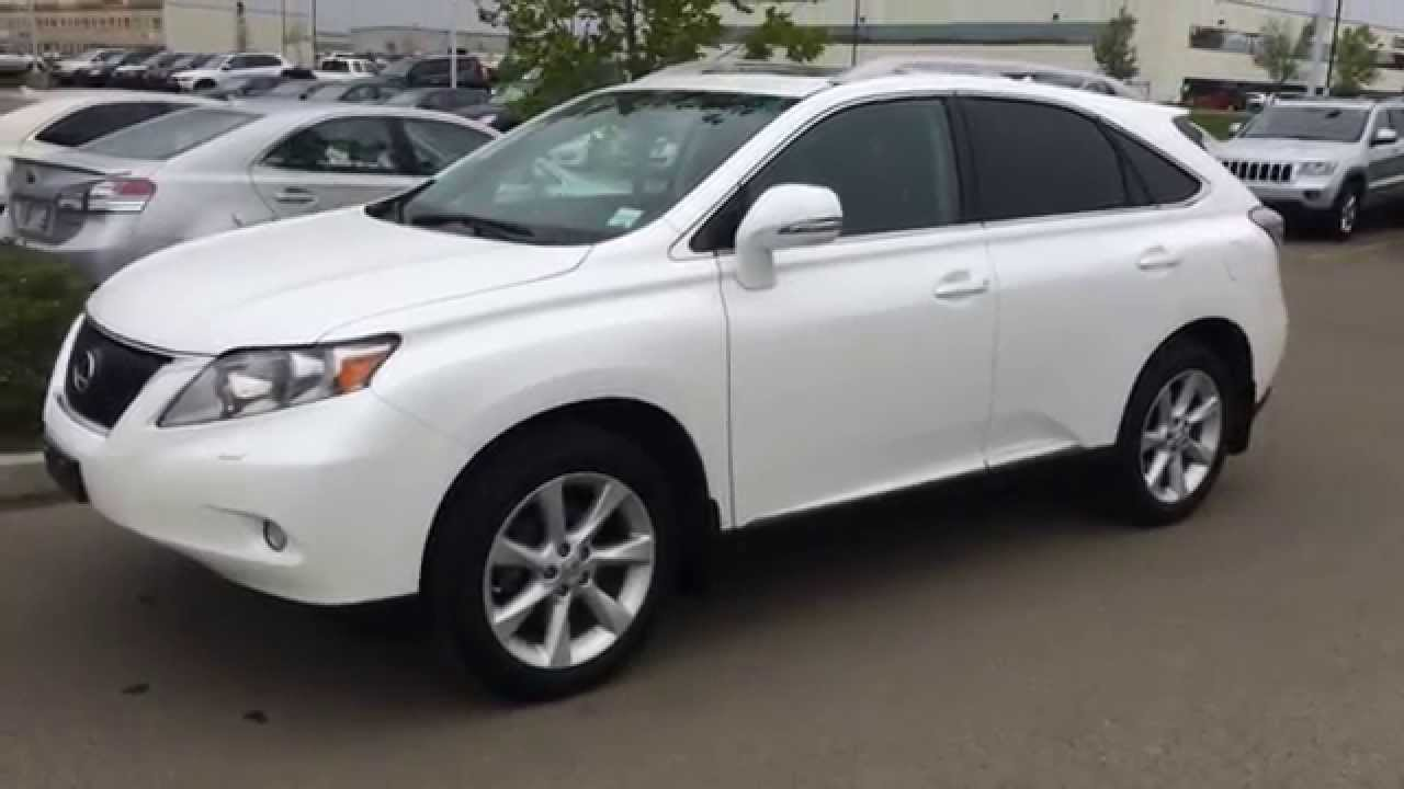 Lexus Certified Pre Owned White On Black 2012 Rx 350 Awd
