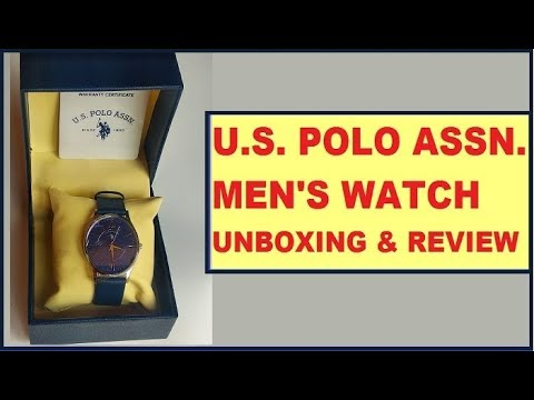 U.S. Polo Assn. Men's Wrist Watch USIAT0046 Analog Leather Watch Unboxing And Review