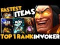 TOP 1 HERO SCORE INVOKER - Fastest Farm 860 GPM Easy 6 Slot Items | EPIC GAME - Dota 2 Invoker