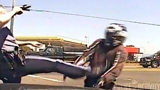 Dashcam Video Shows Oregon Cop Kicking Motorcyclist