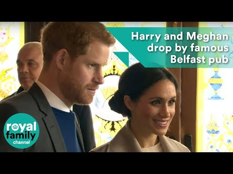 Prince Harry and Meghan Markle drop by a famous Belfast pub