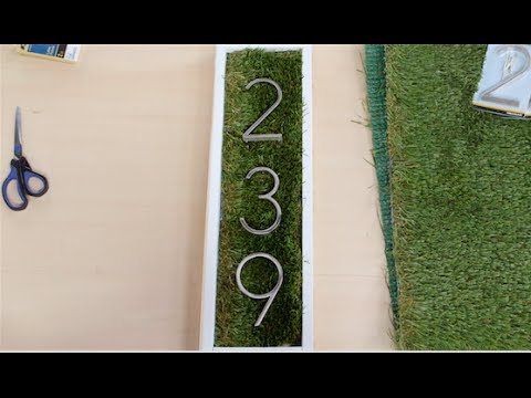 DIY House Number Sign | Eye on Design
