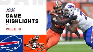 Bills vs. Browns Week 10 Highlights | NFL 2019