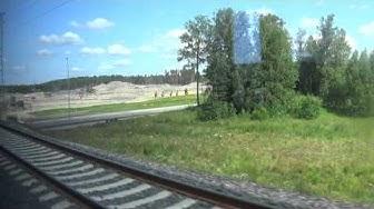 P-juna Helsingin rautatieasema-Lentoasema-Helsingin rautatieasema.