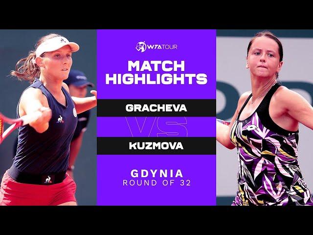 Varvara Gracheva vs. Viktoria Kuzmova | 2021 Gdynia Round of 32 | WTA Match Highlights