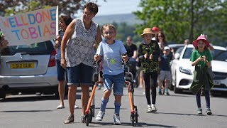 video: Watch: Nine-year-old boy with cerebral palsy walks marathon for charity