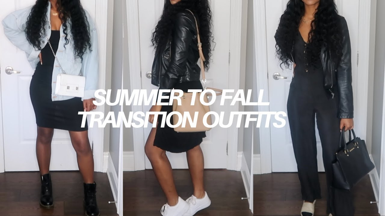 [VIDEO] – 5 Days of SUMMER to FALL Transition Outfits!