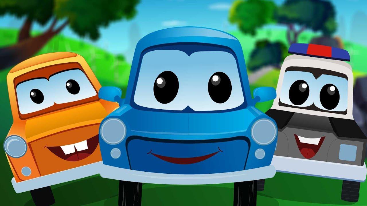 zeek and friends five little cars cartoon cars for kids