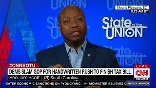 Tim Scott Shoots Down Democratic Criticism of Tax Reform