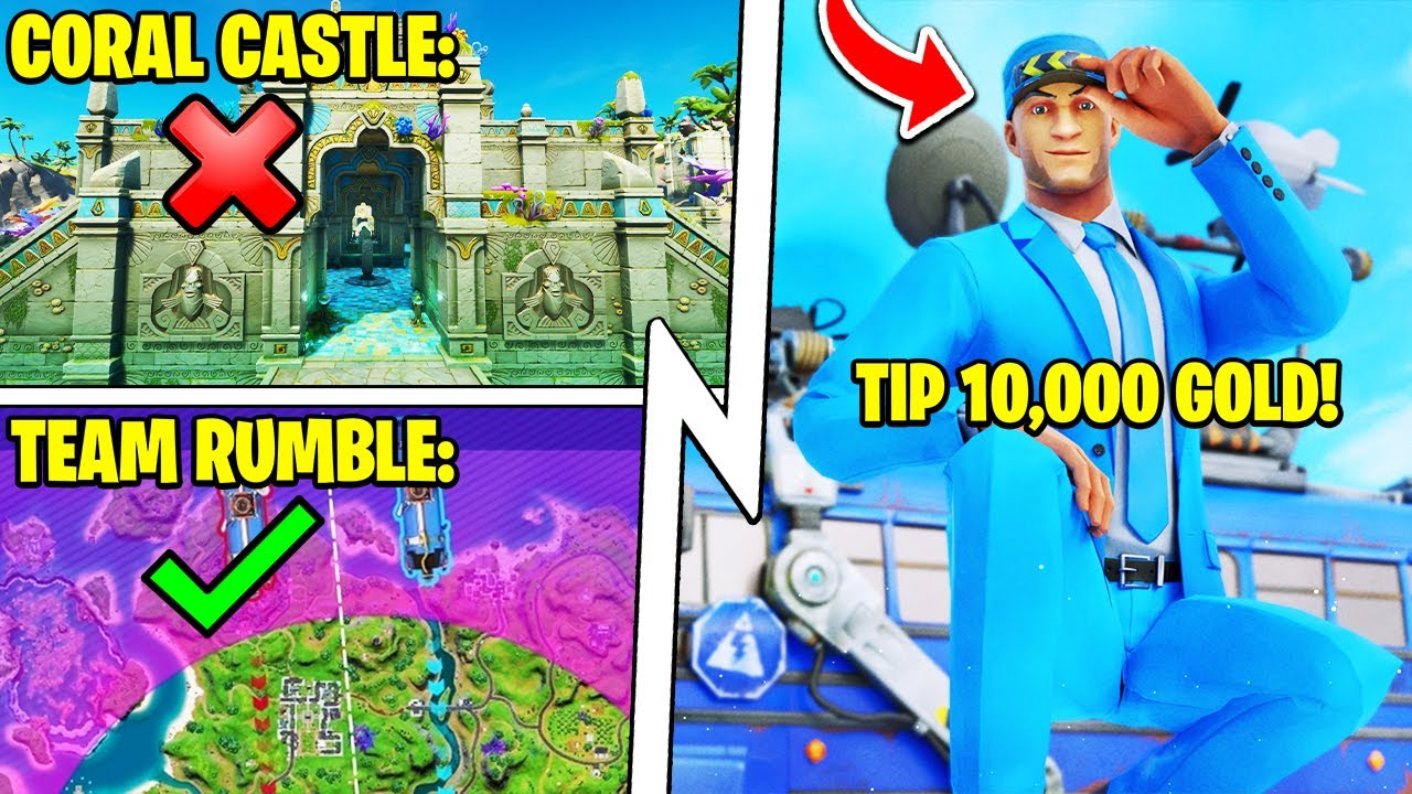 Bus Driver TIP = FREE Skin, Team Rumble UPDATE, Coral Castle Destroyed!