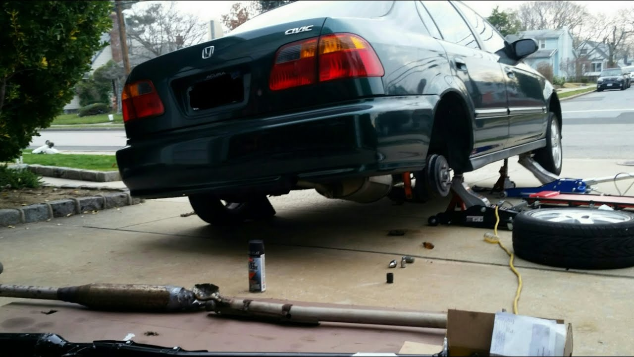 replacing rusted exhaust pipe resonator pipe or b pipe