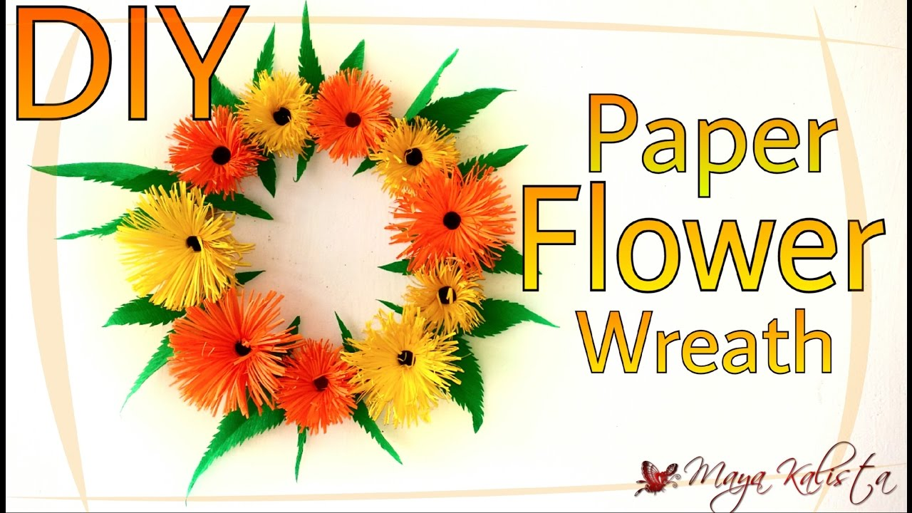 DIY Crafts Paper Flower Wreath How to Make Paper Crafts Home