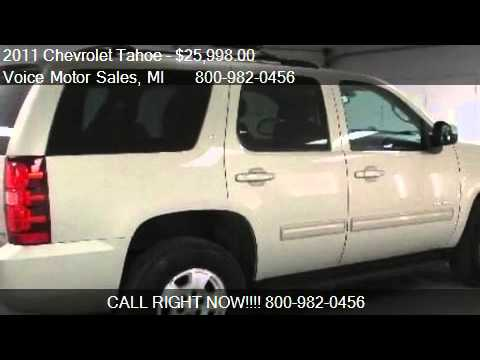 2011 chevrolet tahoe lt 4x4 4 door for sale in kalkaska for Voice motors kalkaska michigan