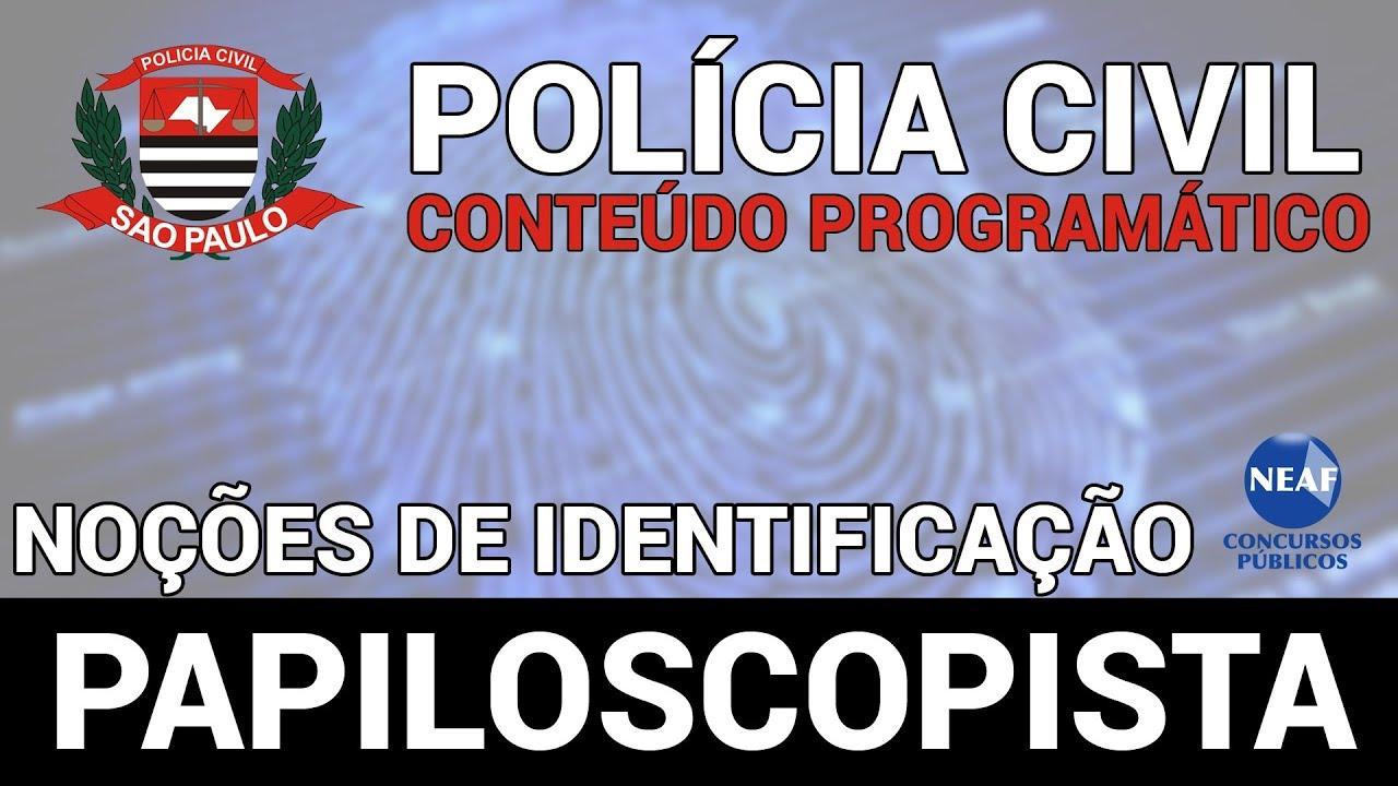 Papiloscopista Policia Civil 2018 Nocoes De Identificacao