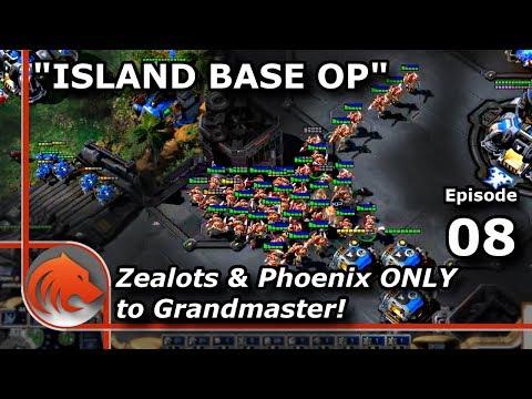 StarCraft 2: Expanding To The Island Base! - MASS Zealots & Phoenix!