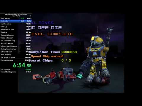 Metal Arms Hard Any% Speedrun in 2:32:10