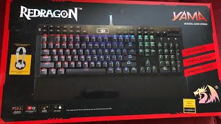 BEST GAMING KEYBOARD IN 2020!!! UNBOXING - RED DRAGON K550