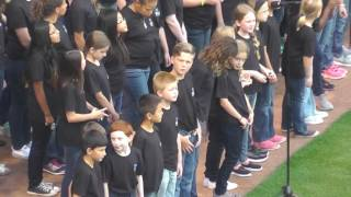 Hogan Twins Game National Anthem 2015