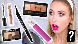 Testing NEW DRUGSTORE Maybelline MAKEUP Launches! || 5 First I…