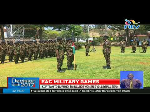 KDF team heads to Burundi for EAC military games