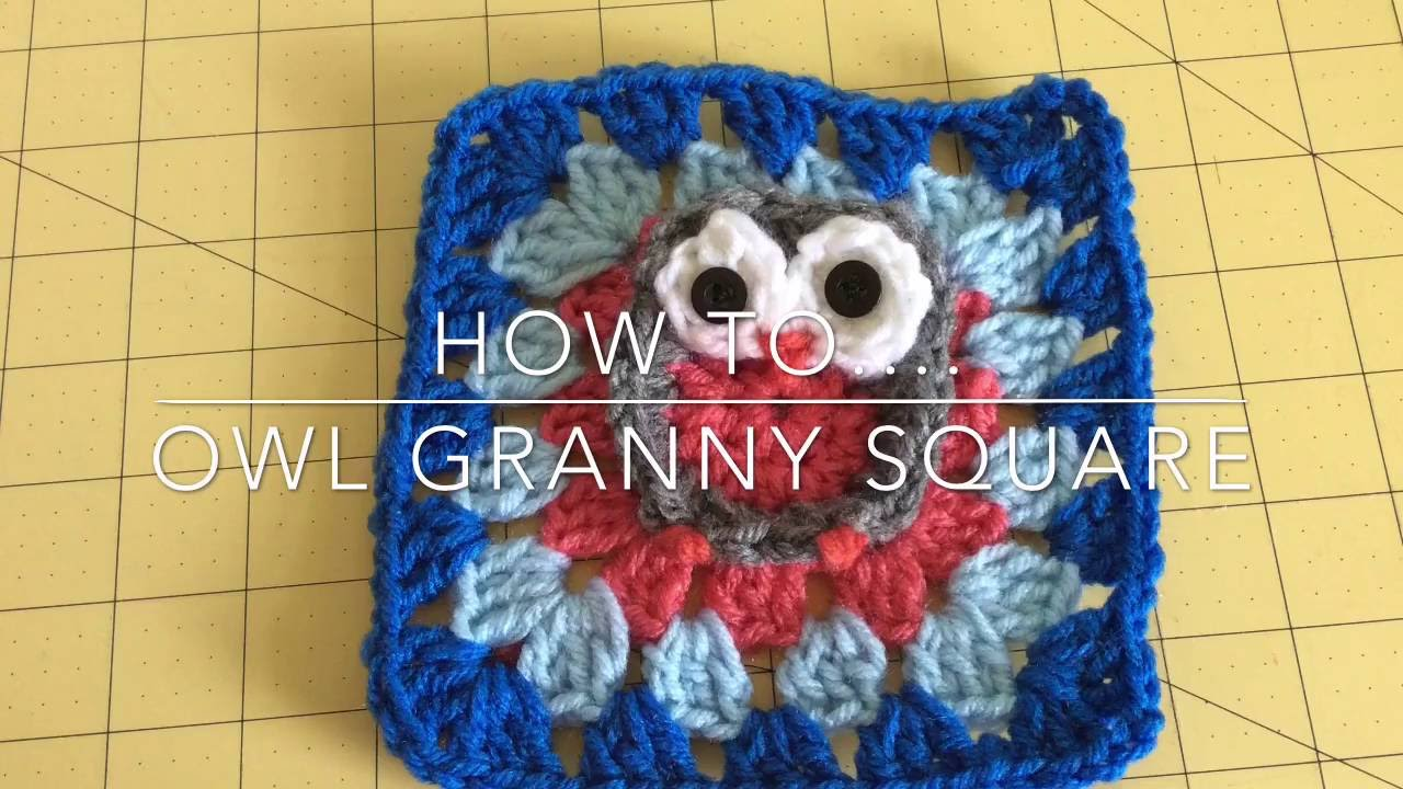Owl Granny Square - YouTube