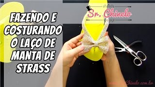 Repeat youtube video Como fazer e aplicar o laço de manta de strass no chinelo