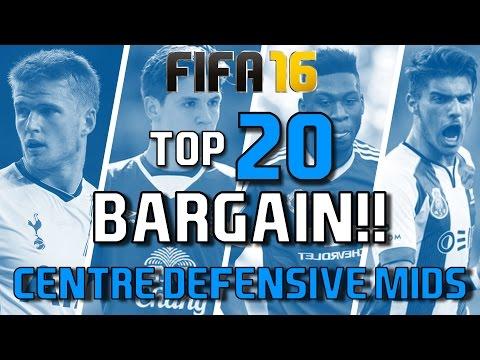 TOP 20 BARGIN CENTRE DEFENSIVE MIDFIELDERS   FIFA 16 Career Mode