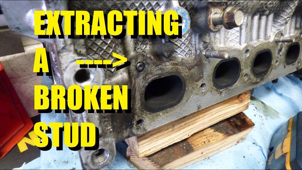 Removing a broken manifold stud