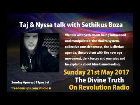 Taj & Nyssa talk with Sethikus Boza on The Divine Truth on Revolution Radio