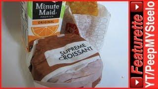 Best Jack In The Box Breakfast Sandwich Menu Combo W/ Orange Juice & Hash Brown And Croissant
