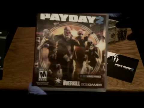 Payday 2 Collectors Edition Unboxing + Gameplay